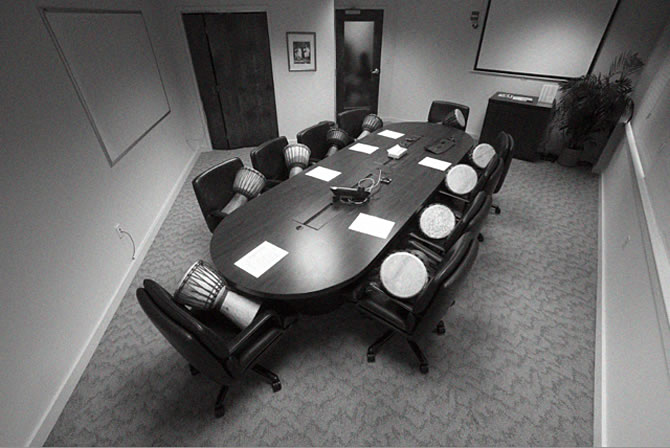 Conference Room, Providence, RI, site of Investors' Drum Circle workshop, 1-14-13. Photo: Shirin Adhami
