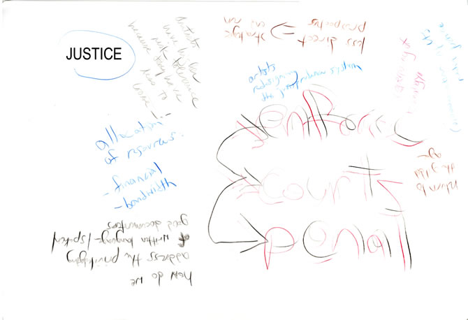 Justice placemat
